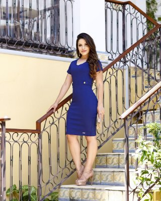 Vestido Mariangela - Moda Evangélica Executiva