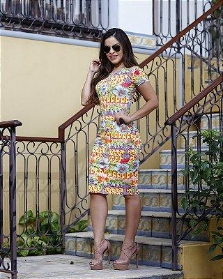 Vestido Melaine - Moda Evangélica Executiva