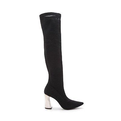 Bota Sock Boot Over The Knee Preta Cecconello – Amoii – Moda Executiva e Evangélica
