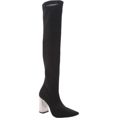 Bota Sock Boot Over The Knee Preta Cecconello – Amoii – Moda Executiva e Evangélica