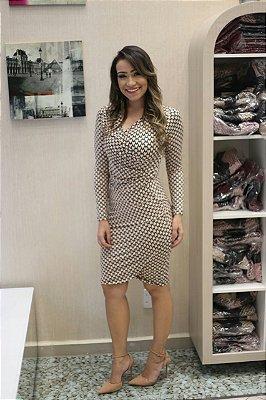 BK4713 - VESTIDO THALITA EM MALHA FRIA - MODA EVANGÉLICA