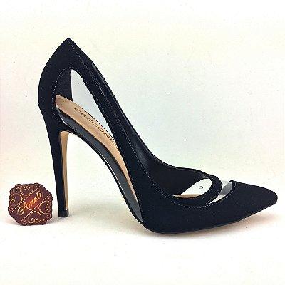Scarpin Preto em vinil da Cecconello – Amoii – Moda Executiva e Evangélica