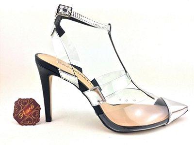 Scarpin Metalizado em Vinil Prata da Cecconello – Amoii – Moda Executiva e Evangélica