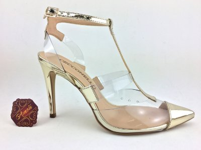 Scarpin Metalizado em Vinil Dourado da Cecconello – Amoii – Moda Executiva e Evangélica