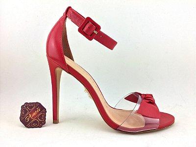 Sandália Vermelha em Vinil/Couro Carrano – Amoii – Moda Executiva e Evangélica