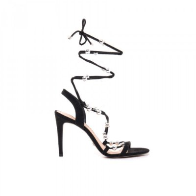 Sandália Preta Esferas Cecconello – Amoii – Moda Executiva e Evangélica