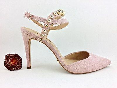 Scarpin Rosa Esferas Cecconello – Amoii – Moda Executiva e Evangélica