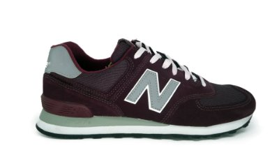 Tênis New Balance 574 Bordô