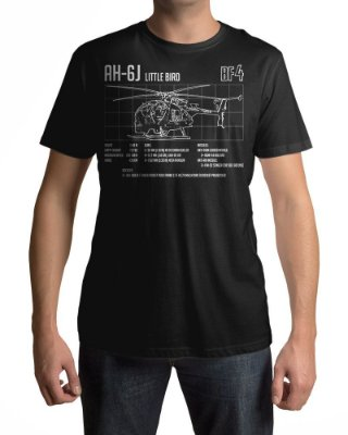 Camiseta BF4 Battlefield 4 AH-6J Little Bird