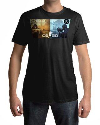 Camiseta CS:GO Counter-Strike Terroristas VS Contra-Terroristas