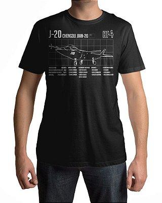 Camiseta BF4 Battlefield 4 J-20 Chengdu-Jian-20
