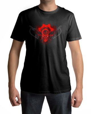 Camiseta Gears of War Skull