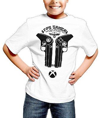 Camiseta Infantil Control Xbox FPS Gamer