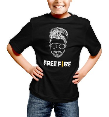 Camiseta Infantil Free Fire Alok