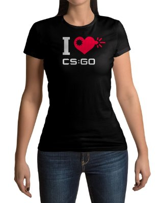 Camiseta I Love CS:GO