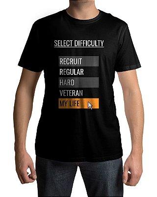 Camiseta Selecione a Dificuldade