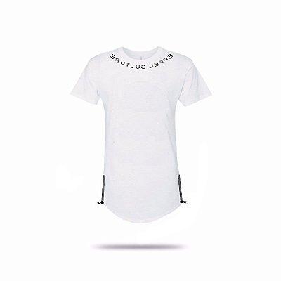 Camiseta Effel long line espelhada.