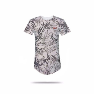 Camiseta Effel long line Folhagem
