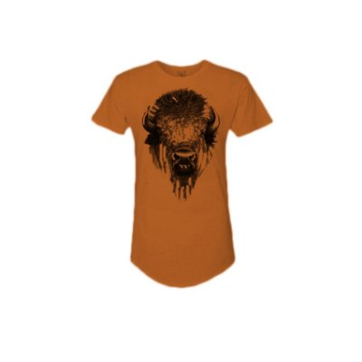 Camiseta Effel long line bison face.