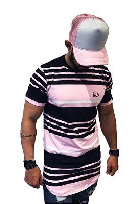 Camiseta Effel longline Listrada