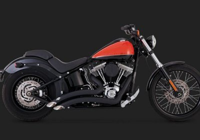 Escapamento Vance & Hines Big Radius 2-into-2 Black 46069 Softails ano 86-2017