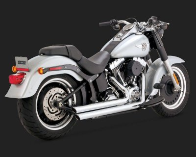 Escapamento Vance & Hines Big Shots Staggered 17939 para Harley Davidson Softails ano 86 a 2017