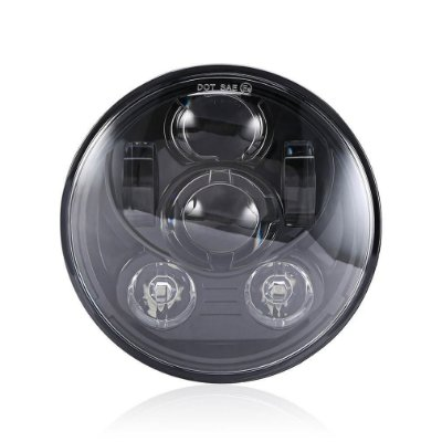 "Farol Principal Led Daymaker Projector LED Headlight 7"" Black + Adapter Ring para Harley Touring até ano 2013"