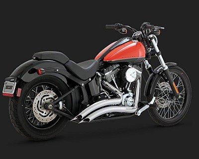 Escapamento Vance & Hines Big Radius 2-into-2 26069 para Harley Davidson Softails ano 86 a 2017