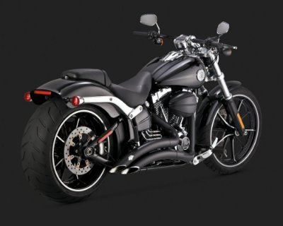 Big Radius 2-into-2 Black 46065 Softails Breakout ano 2013 a 2017