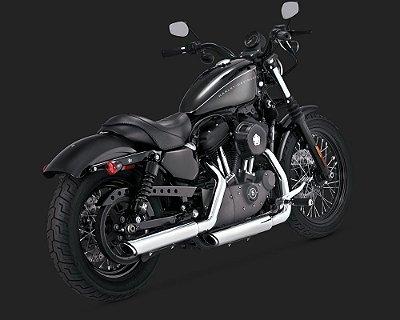 "Escapamento Vance & Hines Twin Slash 3"" Slip-ons 16861 para Harley Sportsters 2014 em diante"