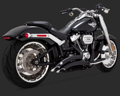 Vance & Hines Big Radius 2-into-2 Black 46075 para Softail FatBoy / Breakout Milwaukee Eight 2018