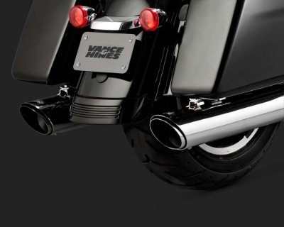 Ponteiras Vance & Hines TWIN SLASH ROUND SLIP-ONS 16672 para Harley Touring 2017 em diante