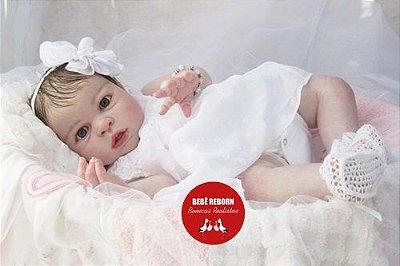 Bebê Reborn Menina Detalhes Reais Muito Fofa Parece Um Bebê De Verdade Com Enxoval E Chupeta