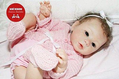 Bebê Reborn Menina Detalhes Reais Bebê Delicada E Recém Nascida Com Enxoval E Chupeta