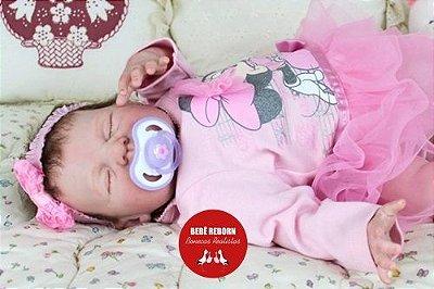 Bebê Reborn Menina Detalhes Reais Com Lindo Enxoval E Acessórios Bebê Encantadora