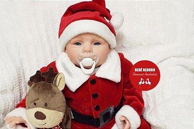 Bebê Reborn Menino Detalhes Reais Com Enxoval E Uma Linda Chupeta Bebê Sofisticado