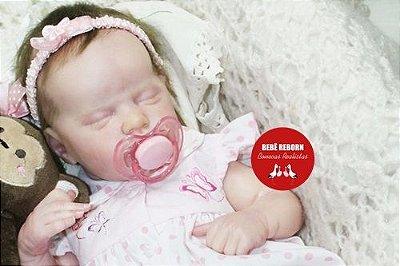 Bebê Reborn Menina Detalhes Reais Boneca Maravilhosa Toda Em Vinil Siliconado Acompanha Enxoval
