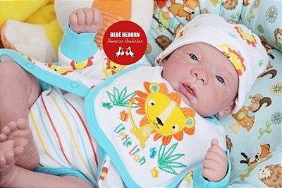 Bebê Reborn Menino Detalhes Reais Com Enxoval E Chupeta Bebê Reborn Bonito Recém Nascido