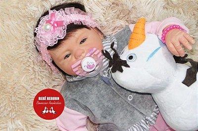 Bebê Reborn Menina Realista Membros Em Vinil Siliconado Super Fofa Parece Um Bebê De Verdade