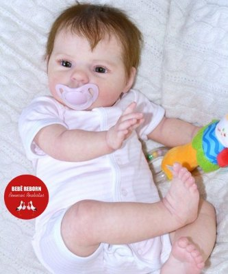 Bebê Reborn Menina Com Enxoval E Uma Linda Chupeta Bebê Reborn Super Realista
