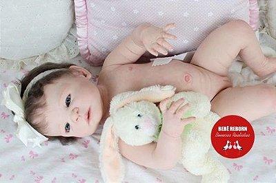 Bebê Reborn Menina Detalhes Reais Princesinha Sofisticada Com Corpo Em Vinil Siliconado