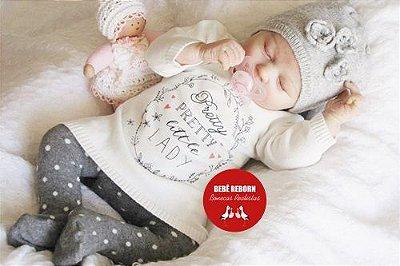Bebê Reborn Menina Bebê Quase Real Uma Fofura Acompanha Enxoval E Acessórios