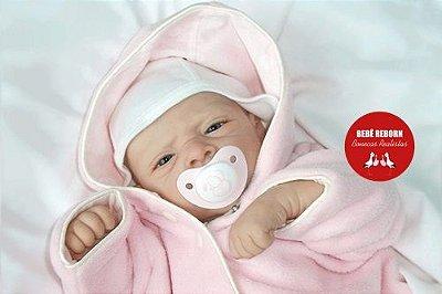 Boneca Bebê Reborn Menina Detalhes Reais Bebê Recém Nascida Com Enxoval E Linda Chupeta
