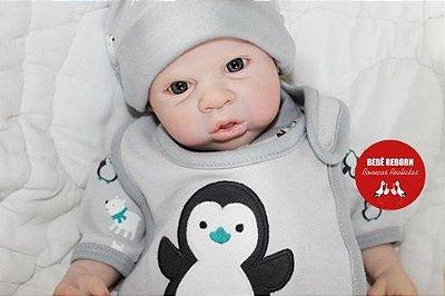 Bebê Reborn Menino Bebê Quase Real 58 Cm Lindo E Perfeito Com Chupeta E Enxoval Completo