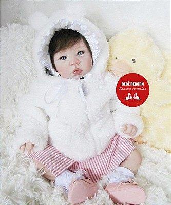 Bebê Reborn Menina Detalhes Reais Perfeitinha Um Verdadeiro Presente Com Enxoval E Chupeta