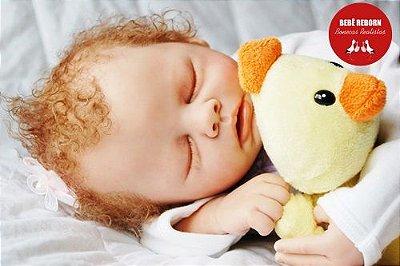 Boneca Bebê Reborn Menina Realista Bebê Artesanal Sofisticada Com Enxoval Lindo Enxoval