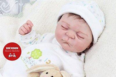 Bebê Reborn Menino Realista Lindo Bebê Sofisticado Todo Em Vinil Articulável Com Enxoval