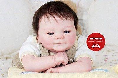 Bebê Reborn Menino Detalhes Reais Bebê Sofisticado Acompanha Lindo Enxoval E Chupeta