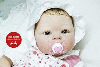 Bebê Reborn Menina Detalhes Reais Linda E Perfeita Acompanha Enxoval E Acessórios