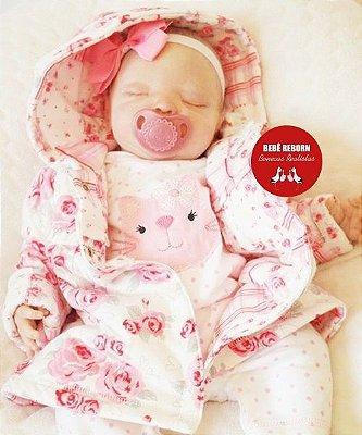 Boneca Bebê Reborn Menina Realista Um Verdadeiro Presente Lindíssima Acompanha Enxoval
